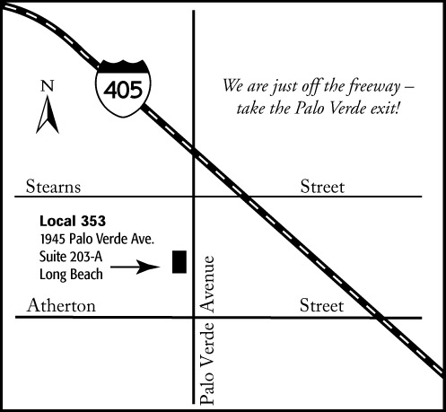 Map to the Local 353 Offices